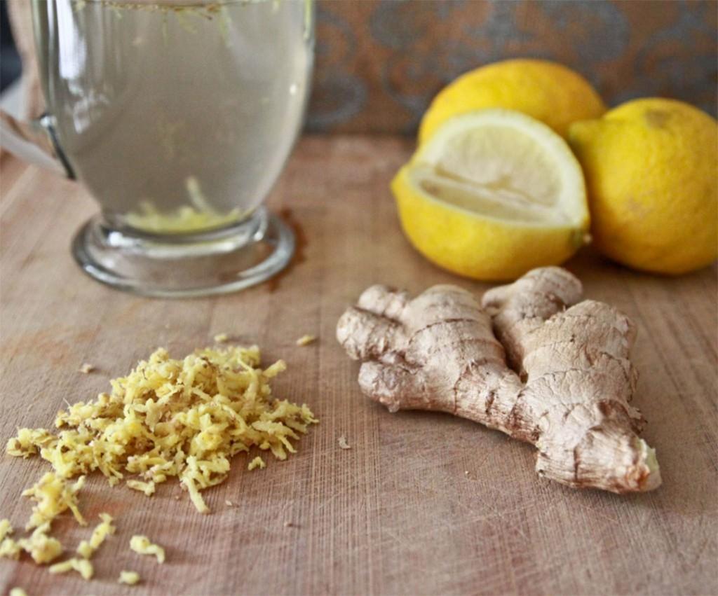 Boisson chaude citron miel ett épices