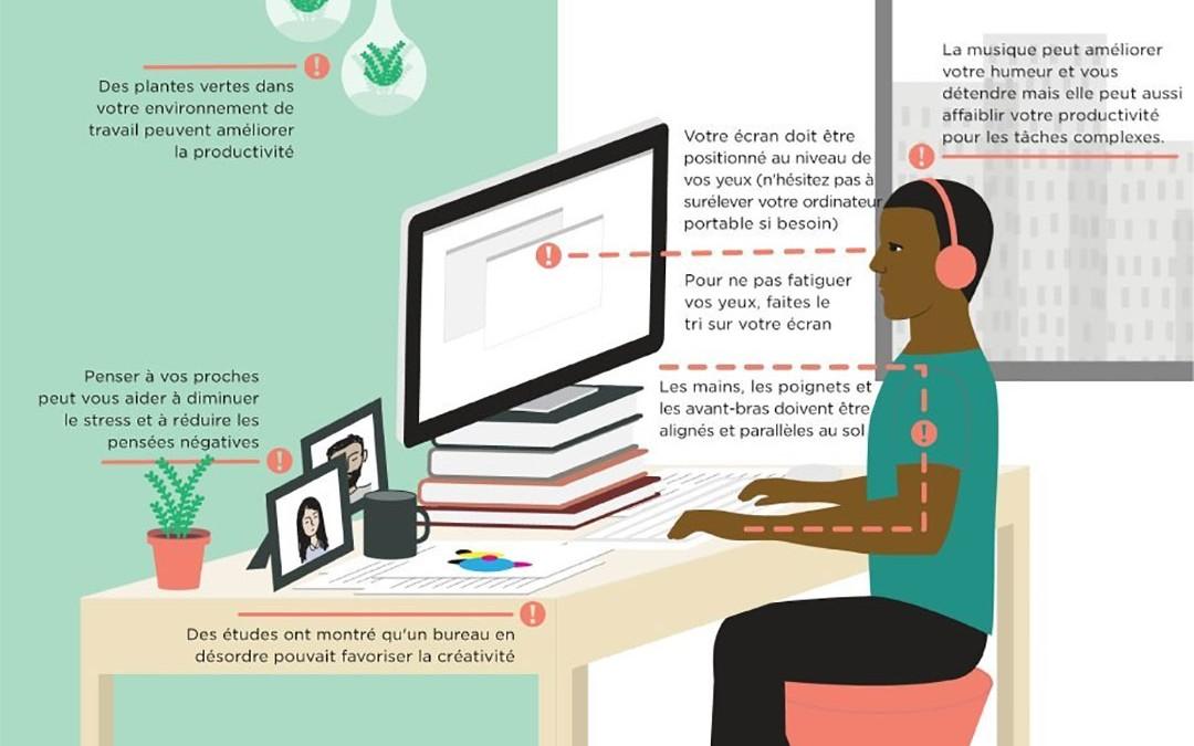 Organisation, posture… les conseils pour être bien au bureau !
