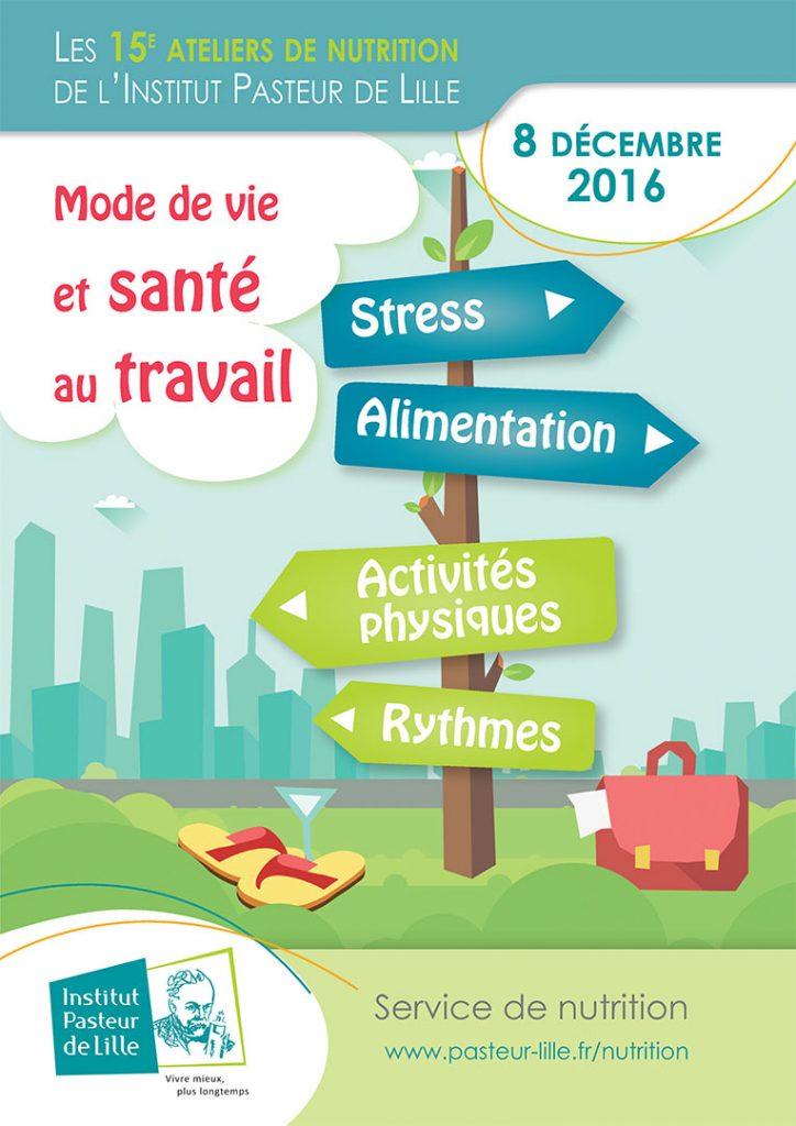 """15èmes Ateliers de Nutrition """"Mode de vie et santé au travail"""""""