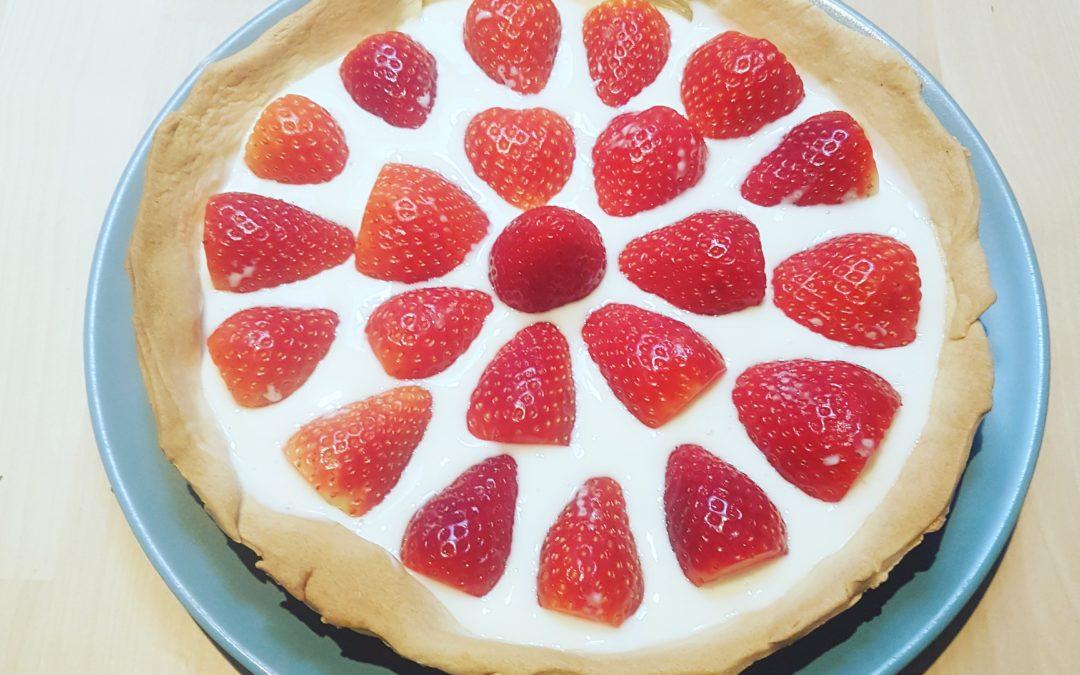 Recette : la tarte aux fraises healthy. Ultra simple et légère !
